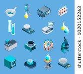 laboratory equipment including... | Shutterstock .eps vector #1020152263