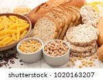 selection of food gluten free   Shutterstock . vector #1020163207