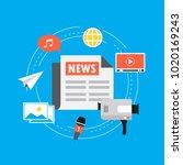 online news  newspaper  news...   Shutterstock .eps vector #1020169243