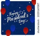 lettering happy presidents day. ...   Shutterstock .eps vector #1020169387