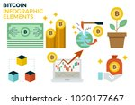 bitcoin infographic concept... | Shutterstock .eps vector #1020177667