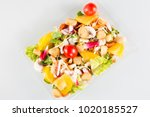close up take away bowl with... | Shutterstock . vector #1020185527