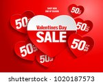 valentine's day sale   abstract ... | Shutterstock .eps vector #1020187573