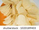 crispy potato chips   Shutterstock . vector #1020189403
