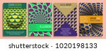 colorful covers templates with... | Shutterstock .eps vector #1020198133