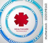 healthcare technology bright...   Shutterstock .eps vector #1020198163