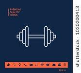 barbell line icon | Shutterstock .eps vector #1020200413