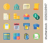 icons banking with exchange ... | Shutterstock .eps vector #1020210547