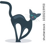 evil cat color isolated... | Shutterstock .eps vector #1020215953