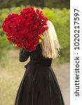 portrait of beautiful blonde...   Shutterstock . vector #1020217597