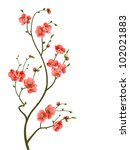 cherry blossom branch abstract... | Shutterstock .eps vector #102021883