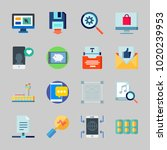 icons about seo with sharing...   Shutterstock .eps vector #1020239953