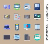 icons computer with phone ... | Shutterstock .eps vector #1020242047