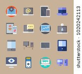 icons computer with computer ... | Shutterstock .eps vector #1020242113