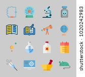 icons about science with... | Shutterstock .eps vector #1020242983