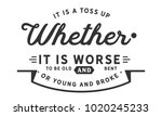 it is a toss up whether it is...   Shutterstock .eps vector #1020245233