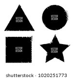 grunge post stamps collection ... | Shutterstock .eps vector #1020251773