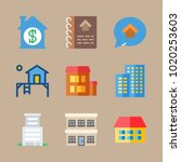 icons construction with... | Shutterstock .eps vector #1020253603