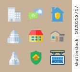 icons construction with capitol ... | Shutterstock .eps vector #1020253717