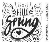 hello spring digital lettering...   Shutterstock .eps vector #1020254233