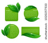 nature tag templates  vector...   Shutterstock .eps vector #1020257533