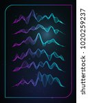 sound wave vector . vector... | Shutterstock .eps vector #1020259237