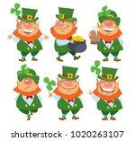 saint patrick's day. set of... | Shutterstock .eps vector #1020263107