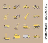 icons construction machinery... | Shutterstock .eps vector #1020264517