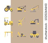icons construction machinery... | Shutterstock .eps vector #1020264643