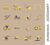 icons construction machinery... | Shutterstock .eps vector #1020264697