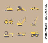 icons construction machinery... | Shutterstock .eps vector #1020265237