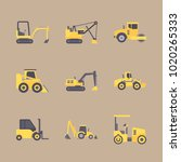 icons construction machinery... | Shutterstock .eps vector #1020265333