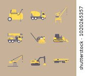 icons construction machinery... | Shutterstock .eps vector #1020265357