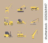 icons construction machinery... | Shutterstock .eps vector #1020265447