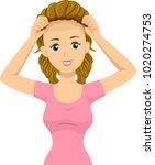 illustration of a bald teen...   Shutterstock .eps vector #1020274753