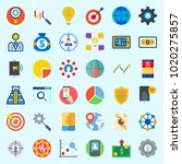icons about marketing with line ... | Shutterstock .eps vector #1020275857