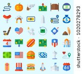 icons about united states with... | Shutterstock .eps vector #1020278293