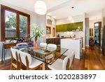 modern gourmet kitchen interior | Shutterstock . vector #1020283897