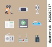 icons gadgets with video player ... | Shutterstock .eps vector #1020287557