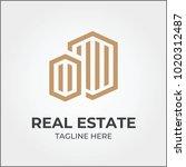 real estate logo icon template | Shutterstock .eps vector #1020312487