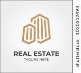 real estate logo icon template | Shutterstock .eps vector #1020312493