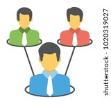 collective efforts concept ... | Shutterstock .eps vector #1020319027