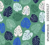 vector tropical pattern with...   Shutterstock .eps vector #1020325117