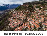 aerial view of metsovo is a... | Shutterstock . vector #1020331003