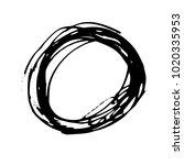 grunge ink pen stroke   Shutterstock .eps vector #1020335953