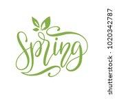 hello spring vector... | Shutterstock .eps vector #1020342787