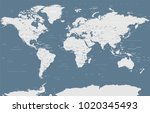 political grayscale world map... | Shutterstock .eps vector #1020345493