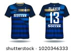 soccer jersey template.blue and ... | Shutterstock .eps vector #1020346333