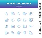 banking and finance line icon | Shutterstock .eps vector #1020347803