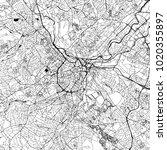 sheffield downtown vector map...   Shutterstock .eps vector #1020355897